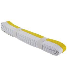 Cinturon Artes Marciales Blanco Amarillo