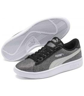 Puma Smash v2 Glitz Glam Puma Casual Footwear Lifestyle Junior Sizes: 36, 37, 38, 39; Color: gray