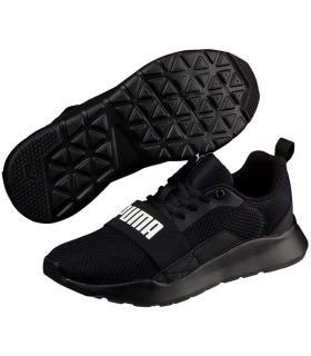 Puma Wired Jr Black Puma Shoe Casual Lifestyle Junior Sizes: 36, 37, 38, 39; Color: black