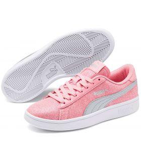 Puma Smash v2 Glitz Glam Pink Puma Casual Footwear Lifestyle Junior Sizes: 36, 37, 38, 39; Color: pink