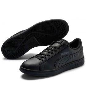Puma Smash v2 Leather Negro Puma Calzado Casual Hombre Lifestyle